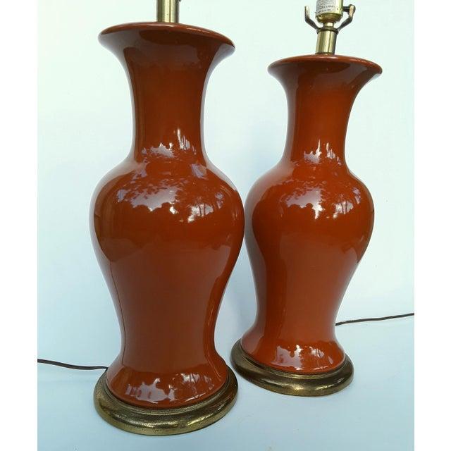 Ceramic Ginger Jar Shaped Lamps - A Pair - Image 3 of 5