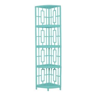 Trinity Corner Etagere - Turquoise For Sale