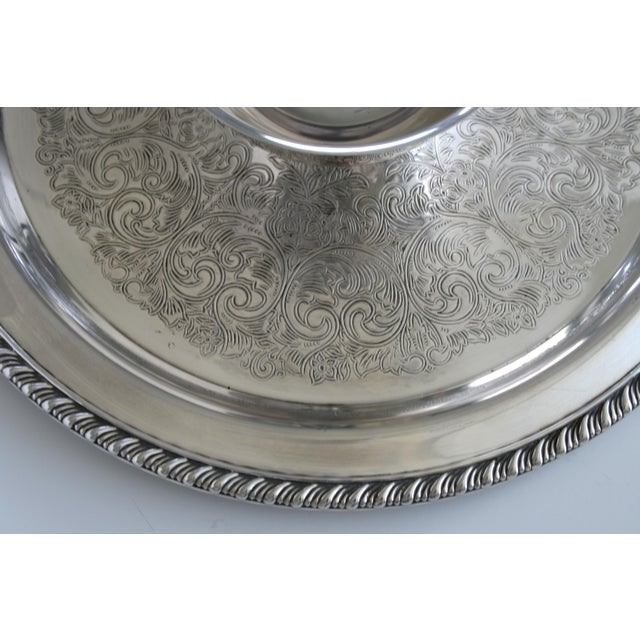 Oneida Oneida Wm. A Rogers Silver Chip and Dip Tray For Sale - Image 4 of 6