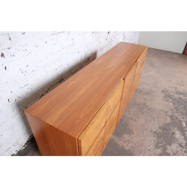 Burl Wood Credenza by Lane Furniture For Sale - Image 11 of 13