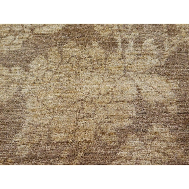 "Beige Hand Knotted Persian Rug - 6'8""x 8' For Sale - Image 8 of 10"