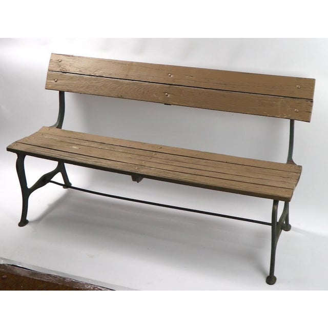Cast Iron and Wood Park Bench For Sale In New York - Image 6 of 9