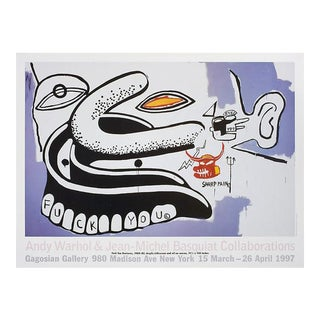 1990s Warhol & Basquiat Exhibit Poster For Sale