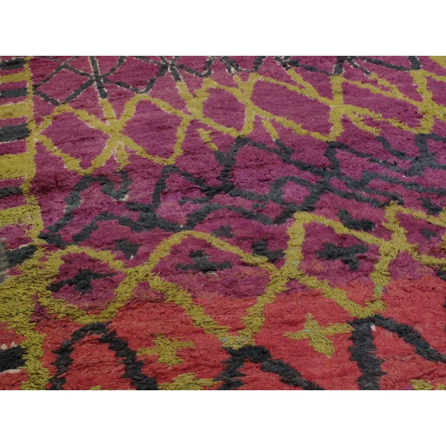 Islamic Ait Bou Ichaouen Moroccan Berber Carpet For Sale - Image 3 of 10