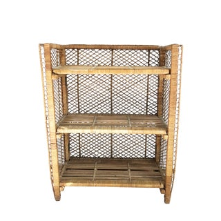 Vintage Wicker Shelf For Sale