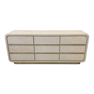 Modern Laminate & Brass Trim Dresser For Sale