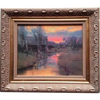 Framed Landscape Print on Canvas For Sale