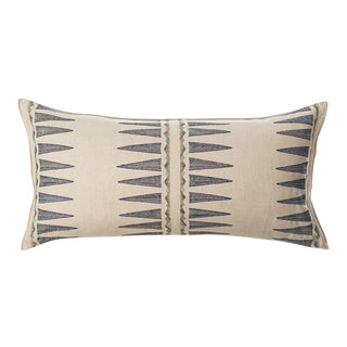 Navy Quill Lumbar Pillow For Sale