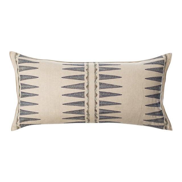 Navy Quill Lumbar Pillow For Sale