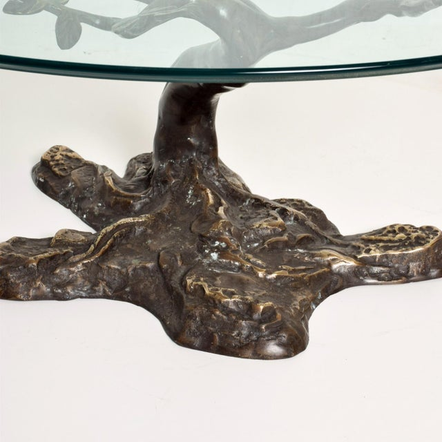Gold Willy Daro Mid-Century Contemporary Bronze Bonsai Tree Coffee Table For Sale - Image 8 of 9