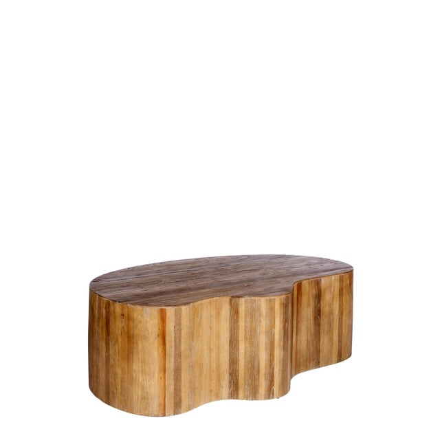 2010s Art Deco Portia Wood Coffee Table For Sale - Image 5 of 5
