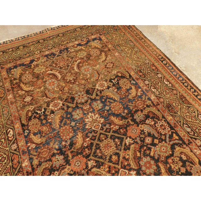 1900 - 1909 1900 Antique Persian Fereghan Rug For Sale - Image 5 of 13
