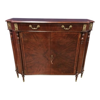 Leighton Hall Mahogany Console Door Cabinet For Sale