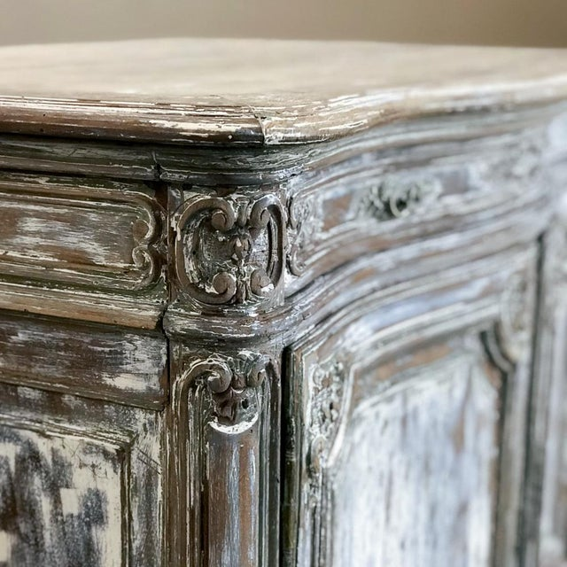 19th Century French Regence Whitewashed Commode For Sale - Image 10 of 13