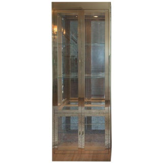 Mid-Century Modern Mastercraft Brass, Glass and Mirror Cabinet