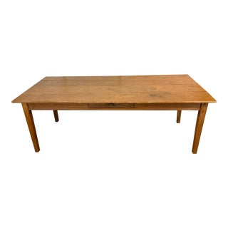 Antique Farmhouse Oak Plank Table For Sale
