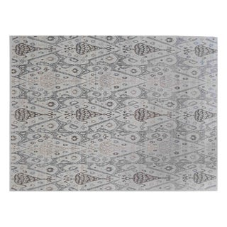 Stark Studio Rugs Traditional New Oriental 50% Wool/50% Silk Rug - 9′ × 12′1″ For Sale