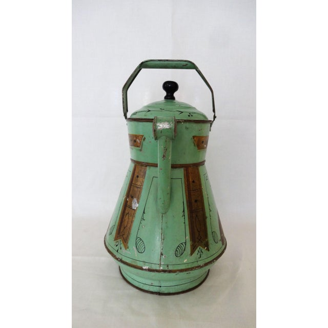 19th Century Toleware Water Kettle For Sale - Image 4 of 9