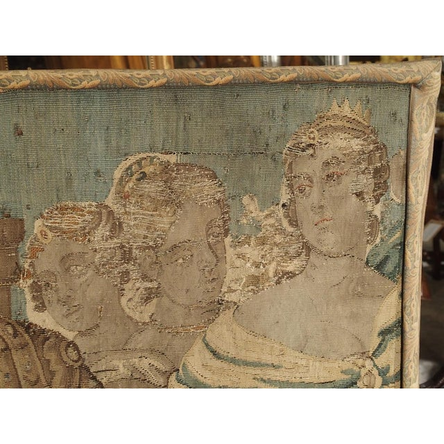 17th Century French Tapestry Fragment on Frame For Sale - Image 4 of 11