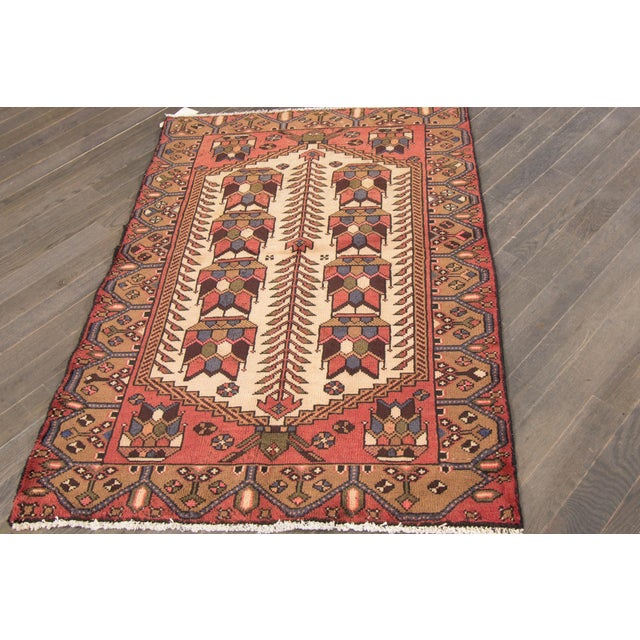 """Vintage Persian Rug, 3'4"""" X 4'10"""" For Sale - Image 4 of 6"""