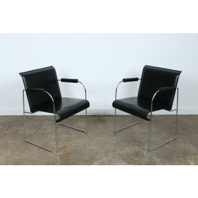 Arrben Italy Arm Chairs - Set of 4 - Image 9 of 11