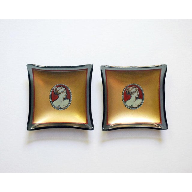 20th Century Hollywood Regency Bent Glass Butter Pats - a Pair For Sale In Saint Louis - Image 6 of 6