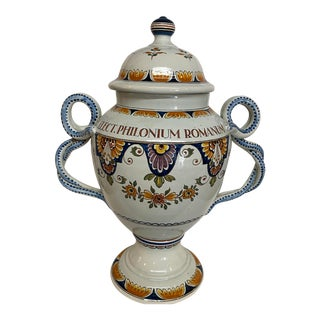 1920s Delft Apothecary Urn For Sale