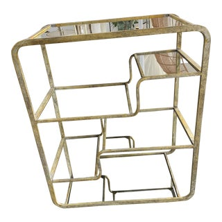 Contemporary Tiered Iron Frame Etagere For Sale