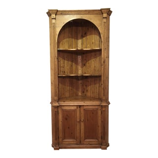 19th Century English Country Pine Corner Cupboard For Sale