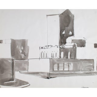Jack Freeman San Francisco Cityscape in Ink, 1976 1976 For Sale