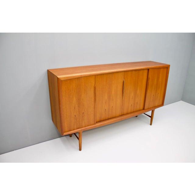 Danish Modern Danish Teak Wood Sideboard by Axel Christensen for Aco Mobler 1960s For Sale - Image 3 of 8