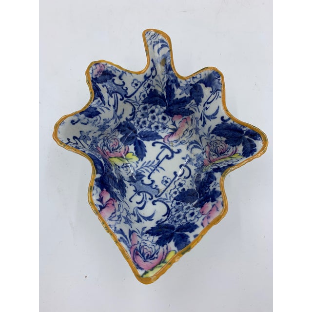 """Late 19th Century Adams English """"Palissy"""" Chintz Pickle Dish For Sale - Image 4 of 7"""