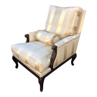 Nancy Corzine French Provincial Louis XV Chevelle Lounge Chair For Sale