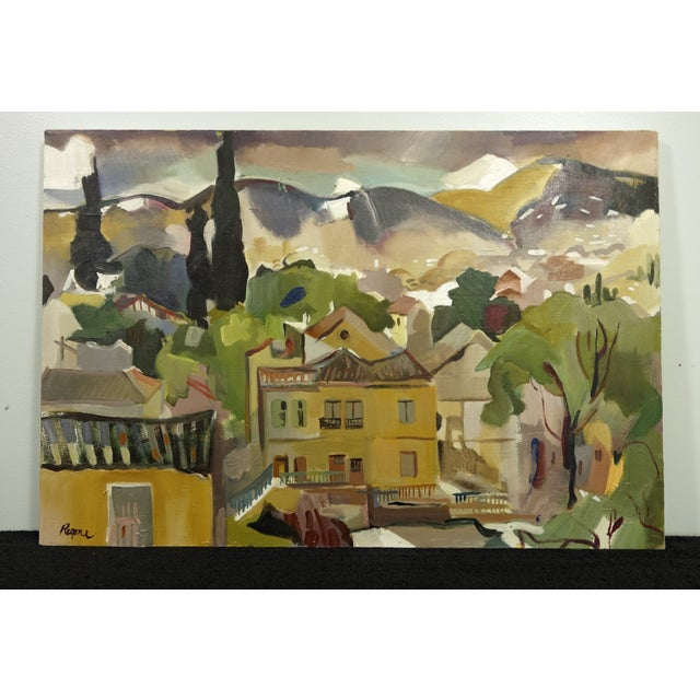 Vintage Town Landscape by Regone Peirrakos - Image 2 of 6