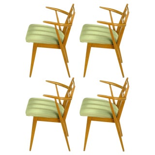 Four Jan Kuypers Birchwood Dining Armchairs for Imperial For Sale