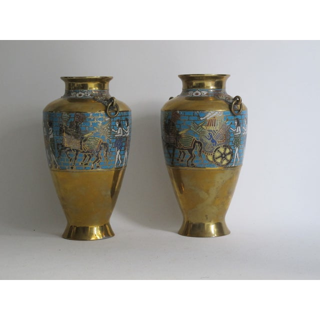Egyptian Revival Urns - A Pair For Sale - Image 4 of 9