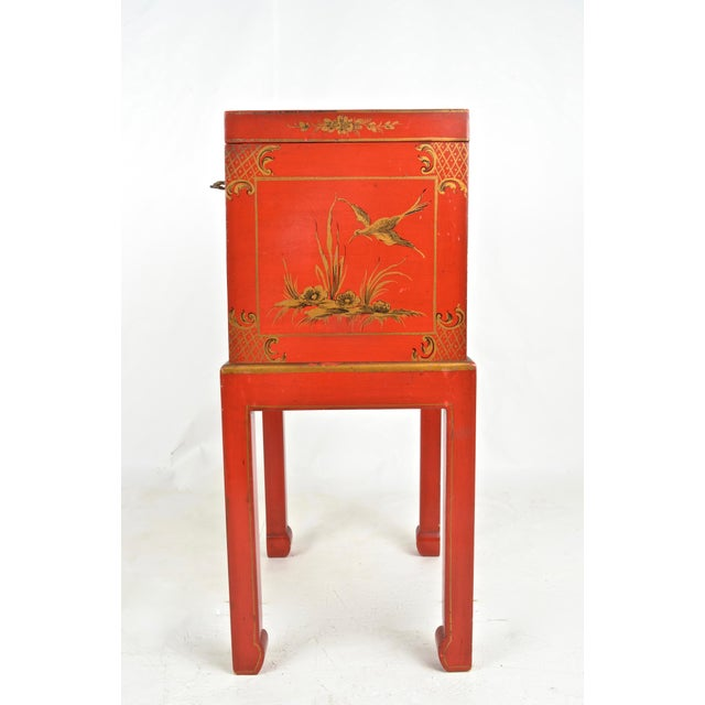 Chinoiserie Box on Stand For Sale - Image 9 of 13