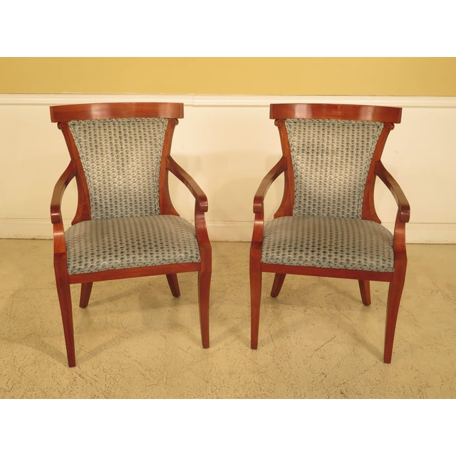 John Widdicomb Klismos Regency Cherry Armchairs - A Pair For Sale - Image 11 of 11