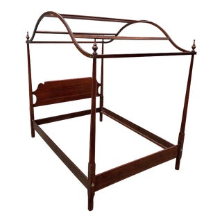 Statton Full Size Pencil Post Canopy Bedframe For Sale