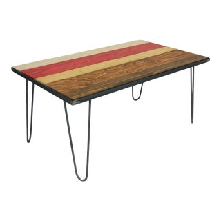 Hairpin Leg Coffee Table in a Fall MIX Design