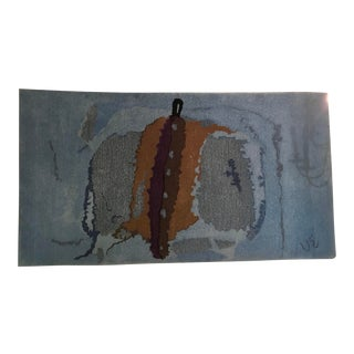 1950s Abstract Hand-Made Area Rug-4′5″ × 7′8″ For Sale