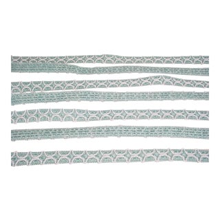 Brunschwig Et Fils Belluno Figured Gimp in Wave Textured Trellis Trim - 18-1/8 For Sale