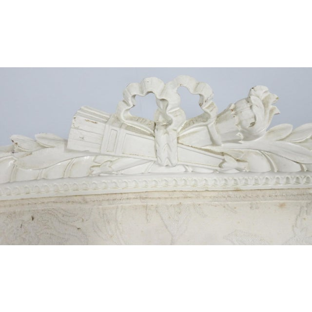 Early 20th Century Louis XVI Style White Carved Sofa For Sale - Image 5 of 8