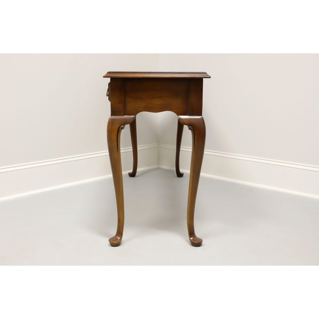 1960s Drexel Heritage Solid Cherry Queen Anne Console Table For Sale - Image 5 of 13