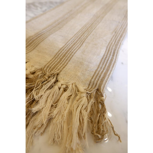 Modern Turkish Hand Made Towel With Natural/Organic Cotton and Fast Drying,37x73 Inches For Sale - Image 3 of 11