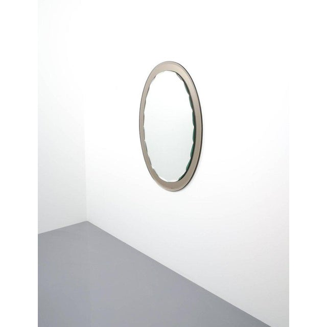Full Length Artisan Vintage Duo Colored Glass Mirror by Cristal Arte, Torino For Sale - Image 5 of 6
