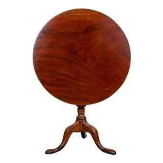 1760s Chippendale Mahogany Tilt-Top Table For Sale