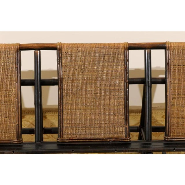 Brown Rare Sofa by John Wisner for Ficks Reed For Sale - Image 8 of 11