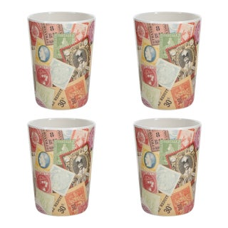 Philately Tumblers - Set of 4 For Sale