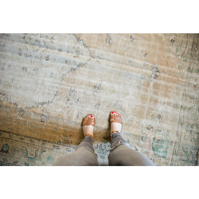 "Vintage Distressed Oushak Carpet - 7'2"" X 10'1"" For Sale - Image 11 of 13"